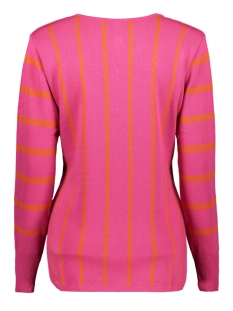 kirsten 194 striped sweater zoso trui fuchsia/orange