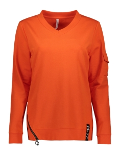 Zoso sweater PIKA SWEATER WITH ZIPPER 194 ORANGE/BLACK