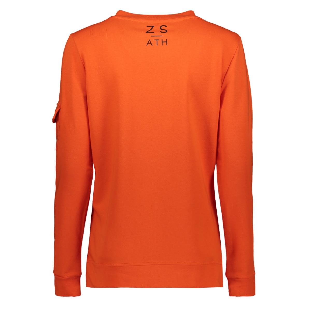pika sweater with zipper 194 zoso sweater orange/black