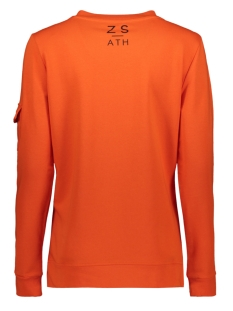 pika sweater with zipper 194 zoso sweater orange/black