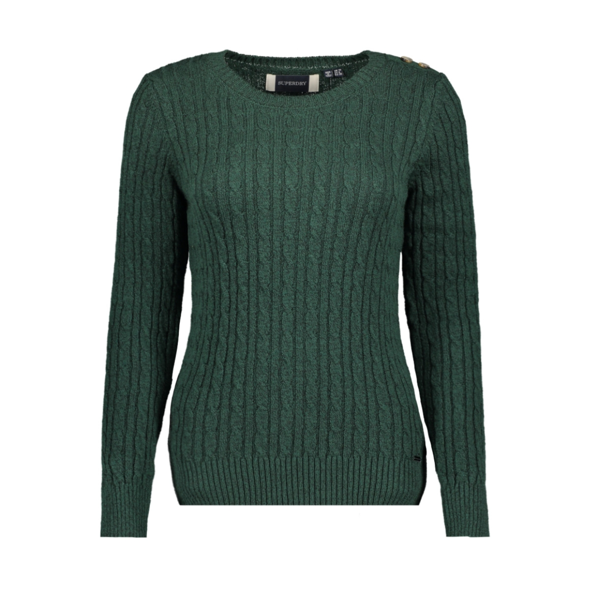 croyde cable knit w6100007a superdry trui emerald green
