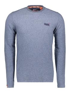 Superdry T-shirt TWILL TEXTURE LS TOP M6000011A BASALT BLUE TEXTURE