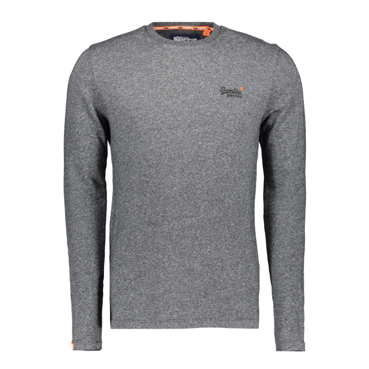 twill texture ls top m6000011a superdry t-shirt basalt grey twill
