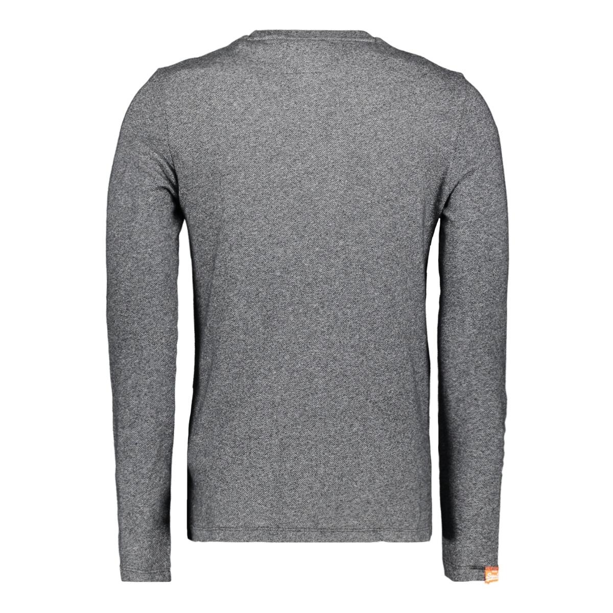 twill texture ls top m6000011a superdry t-shirt basalt grey twill