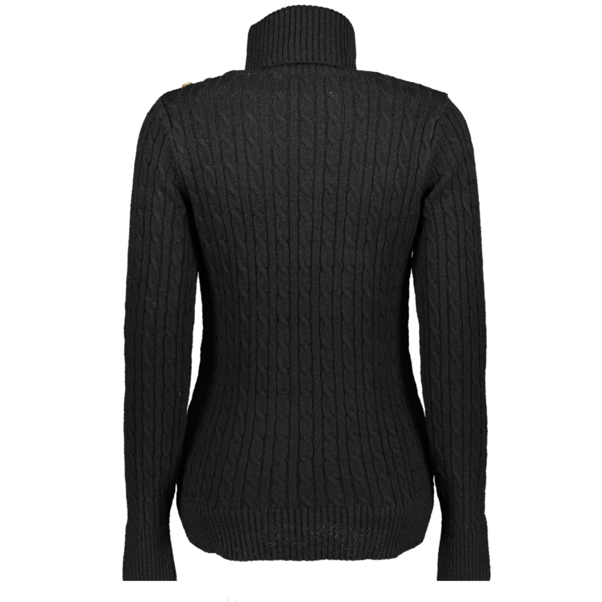 cable roll neck w6100008a superdry trui black