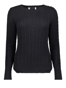 CROYDE CABLE KNIT W6100007A RINSE NAVY