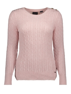 Superdry Trui CROYDE CABLE KNIT W6100007A SOFT PINK MARL