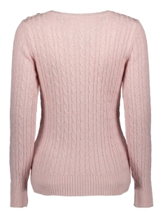 croyde cable knit w6100007a superdry trui soft pink marl