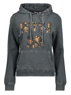 Harper & Yve sweater BUFFALO HOODY FW19K500 BLACK WASHED