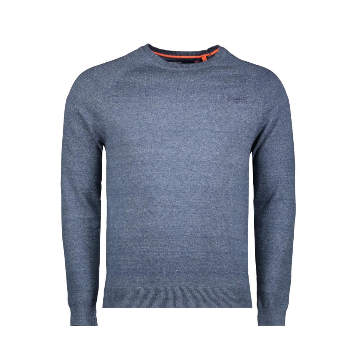 orange label cotton crew m6100025a superdry trui buck blue grindle