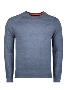 orange label cotton crew m6100025a superdry trui buck blue grindle