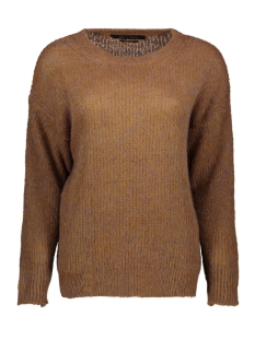 Goût d'Anvers Trui KNIT ROUND NECK GDA12 0202 HONEY/LILA MELANGE