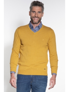 classic pullover v hals 050098 campbell trui 004 donkergeel