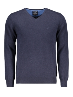 Campbell Trui CLASSIC PULLOVER V HALS 044530 001 DONKERBLAUW