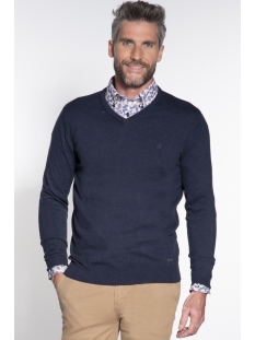 classic pullover v hals 044530 campbell trui 001 donkerblauw