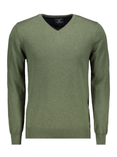 Campbell Trui CLASSIC PULLOVER V HALS 044530 003 DONKERGROEN