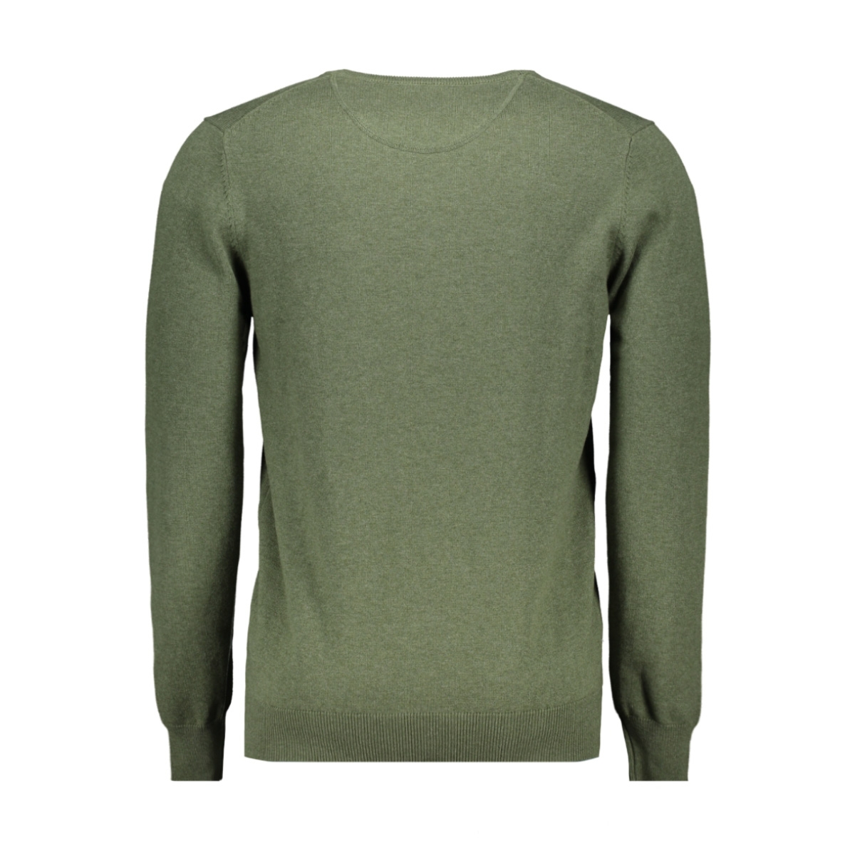 classic pullover v hals 044530 campbell trui 003 donkergroen