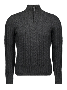 jacob heritage henley m61002kp superdry trui black/charcoal twist