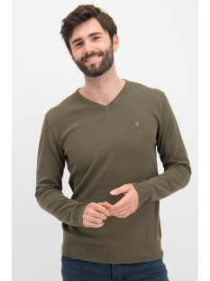 Haze & Finn Trui KNIT V ME 0200 ARMY GREEN