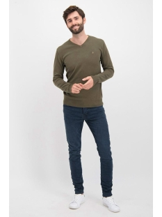 knit v me 0200 haze & finn trui army green