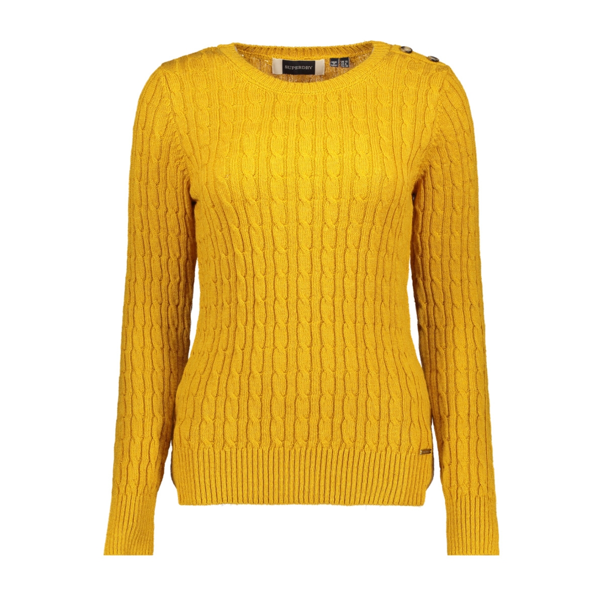 croyde cable knit w6100007a superdry trui ochre