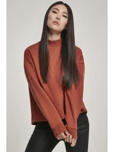 Urban Classics sweater OVERSIZED HIGH NECK CREW TB3012 RUST