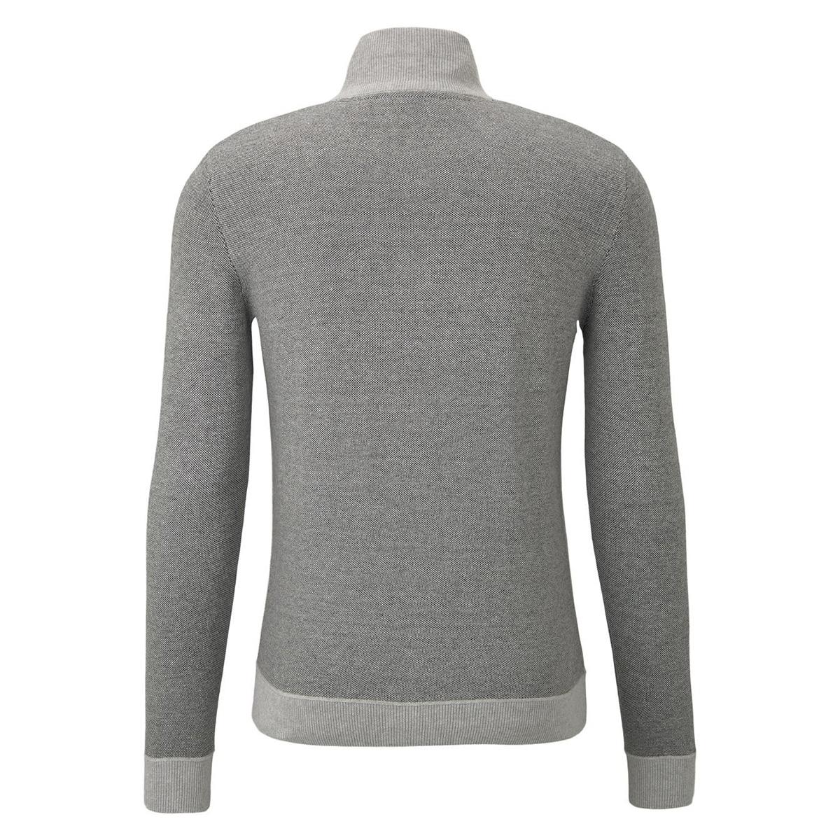gebreid jack met textuur 1015182xx10 tom tailor vest 20850
