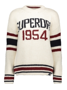 Superdry Trui INTARSIA SLOUCH KNIT W6100045A CREAM