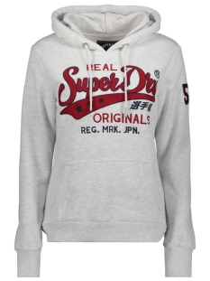 Superdry sweater REAL ORIGINALS CHAINSTITCH ENTRY HOOD W2000090A ICE MARL