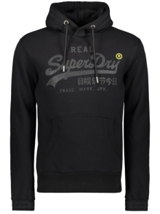 Superdry sweater TONAL TAPE HOOD M2000138A BLACK