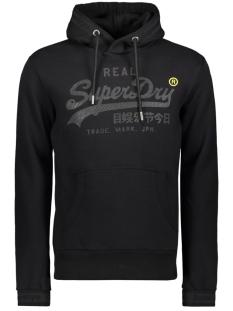 Superdry sweater TONAL TAPE HOOD M2000138A BLACK