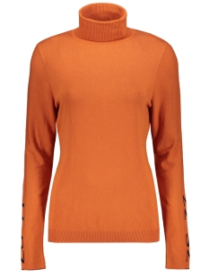Zoso Trui OSLO ROLLNECK SWEATER 195 BURNT ORANGE/BLACK