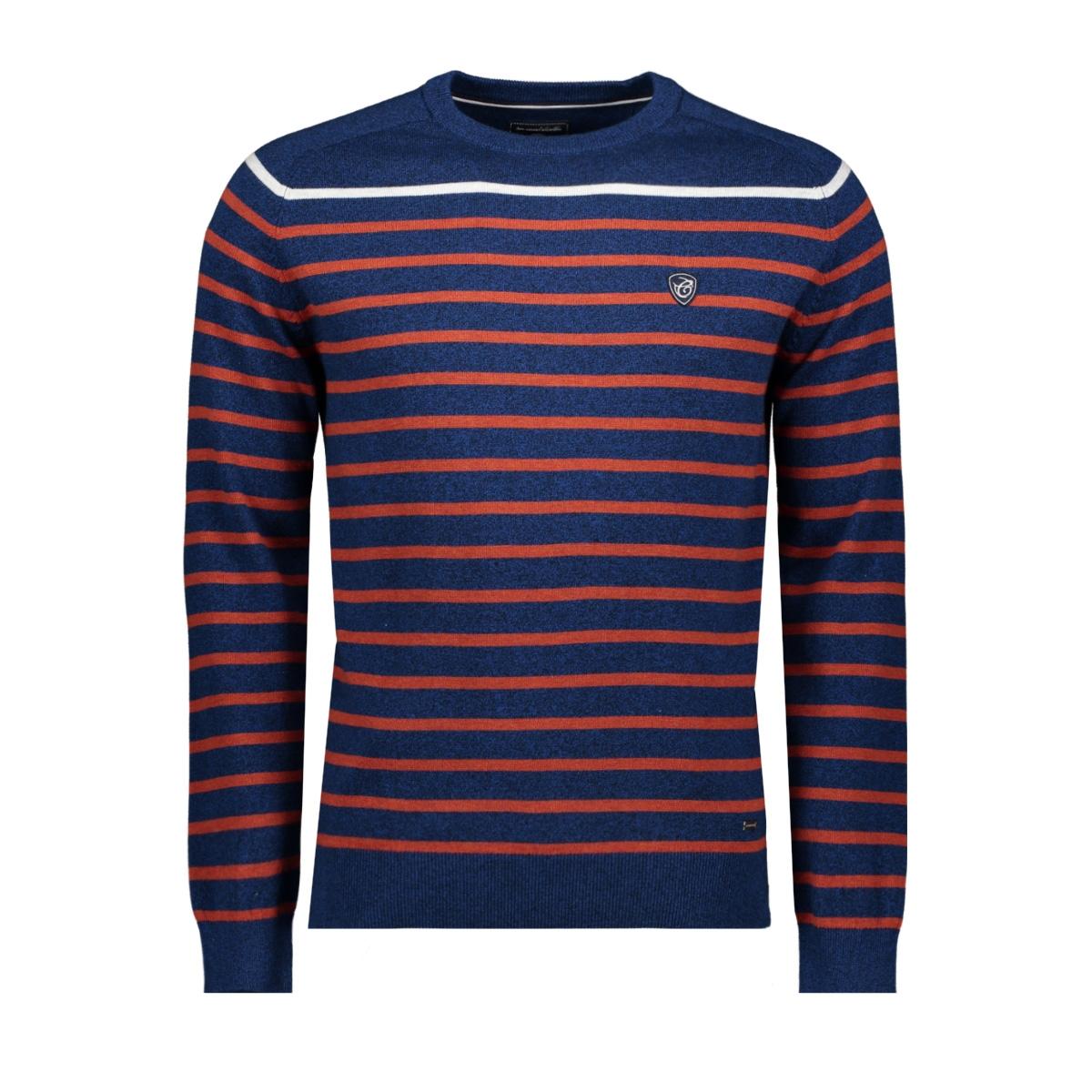 knitwear  harold 052964 campbell trui 382 navy / red