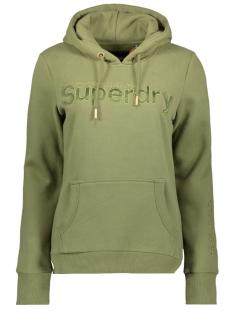 sl satin applique entry hood w2010036a superdry sweater capulet olive