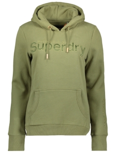 Superdry sweater SL SATIN APPLIQUE ENTRY HOOD W2010036A CAPULET OLIVE