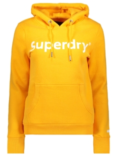 Superdry sweater REG FLOCK ENTRY HOOD W2010069B SPORTY OCHRE