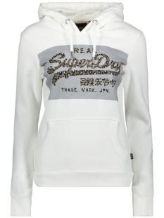 Superdry sweater REFLECTIVE HOOD W2010014A ECRU