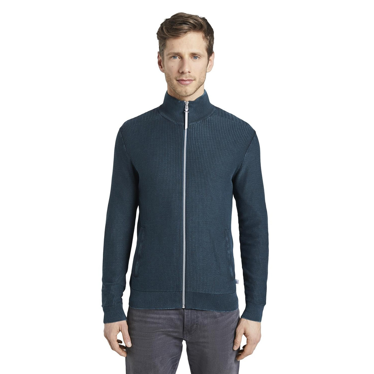 gewassen look getextureerd vest 1017182xx10 tom tailor vest 21179