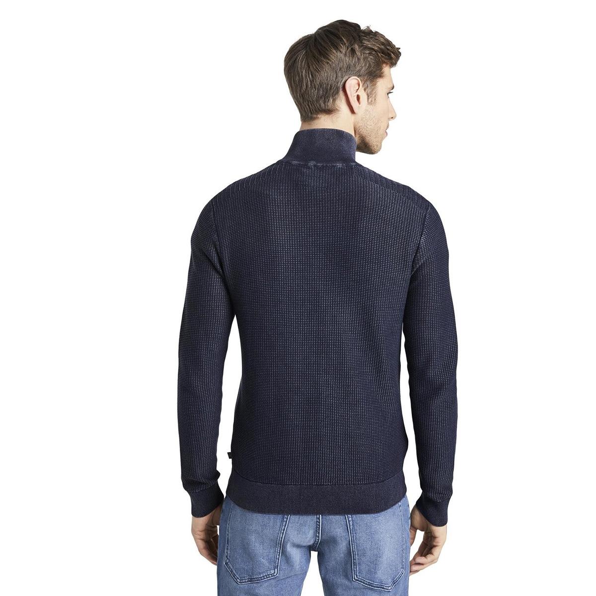 gewassen look getextureerd vest 1017182xx10 tom tailor vest 10668
