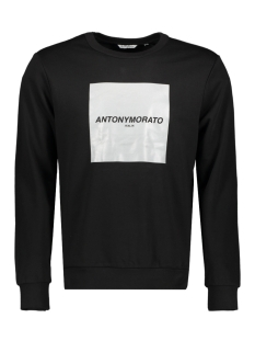 fleece with logo mmfl00644 antony morato sweater 9000 black