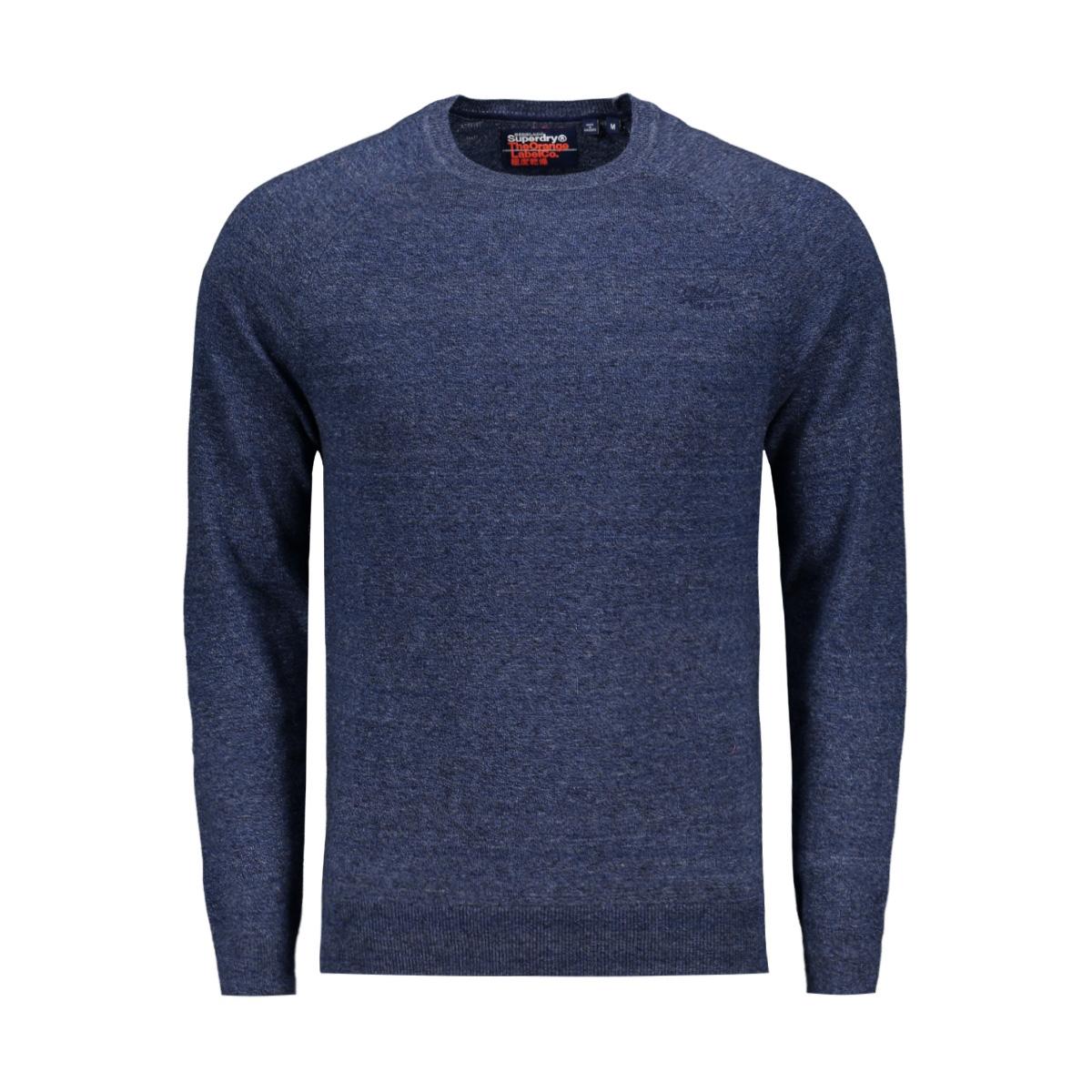 orange label cotton crew m6110004a superdry trui reefer blue grindle