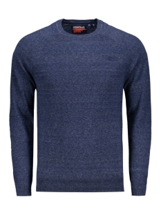 Superdry Trui ORANGE LABEL COTTON CREW M6110004A REEFER BLUE GRINDLE