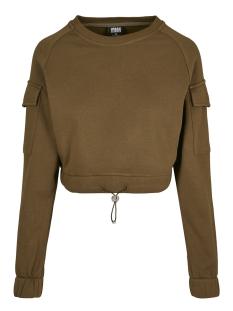Urban Classics sweater SHORT WORKER CREWNECK TB3430 SUMMER OLIVE