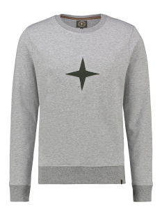 Haze & Finn sweater SWEAT CUT OUT MU13 0402 LGM/ARMY
