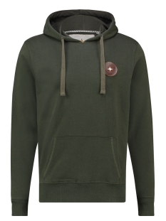 Haze & Finn sweater HOODY ARCTIC BADGE MA13 0426 ARMY GREEN