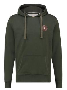 hoody arctic badge ma13 0426 haze & finn sweater army green