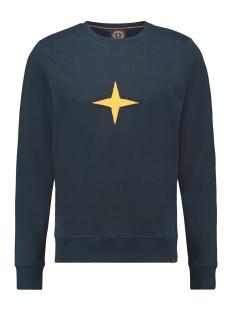 Haze & Finn sweater SWEAT CUT OUT MU13 0402 SAPPHIRE MELANGE