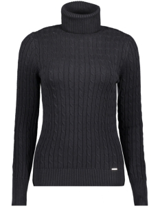 Superdry Trui W6110058A CROYDE CABLE ROLL NECK BLACK