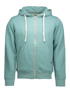 storm sweat zip hood 12077673 jack & jones vest mineral blue