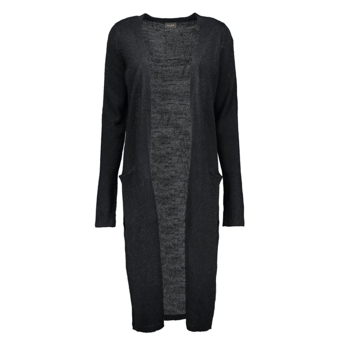 riva long knit cardigan 14015571 vila vest black